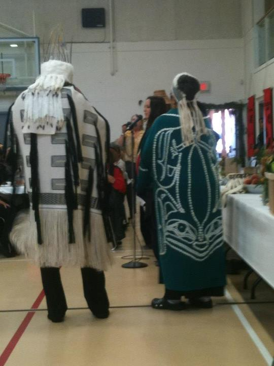 Receiving my great nonnie Ruby Simeon's Haida name: Jaad Kuujus.