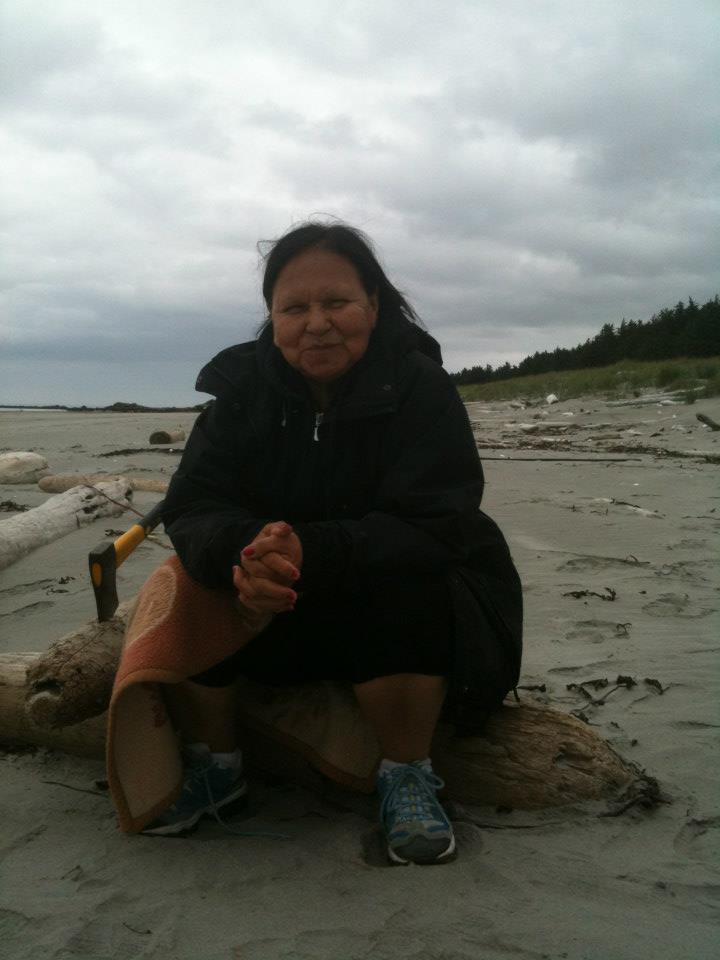 Granny/Nonnie Minni enjoying the beach.