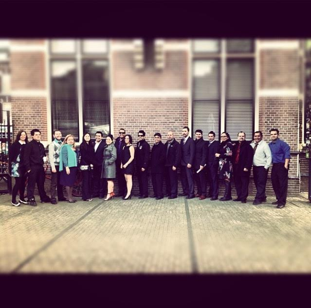 Group shot. 20 Kwakwaka'wakw people in Holland! Trip of a lifetime.