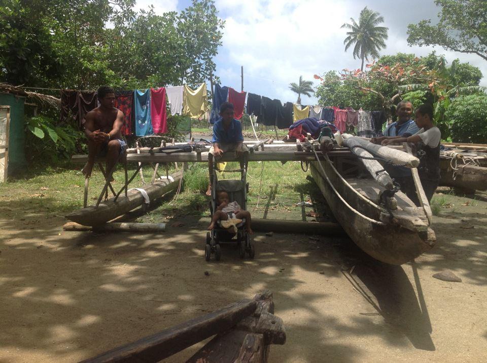 Customary village of Korova, Fiji.