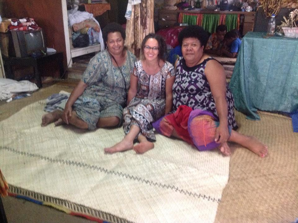 The substancial generosity of the Fijiian people was overwhelming. I found it fascinating to consider that the less people have the more they seem to share. While the more people have the more entitled they feel to what they have. These two ladies from the island of Batiki wove this beautiful mat for me because their sister asked them to as a gift. I feel blessed and grateful to have grown to know these people.