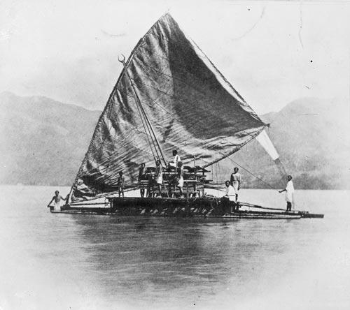 Fijiian canoe sail.