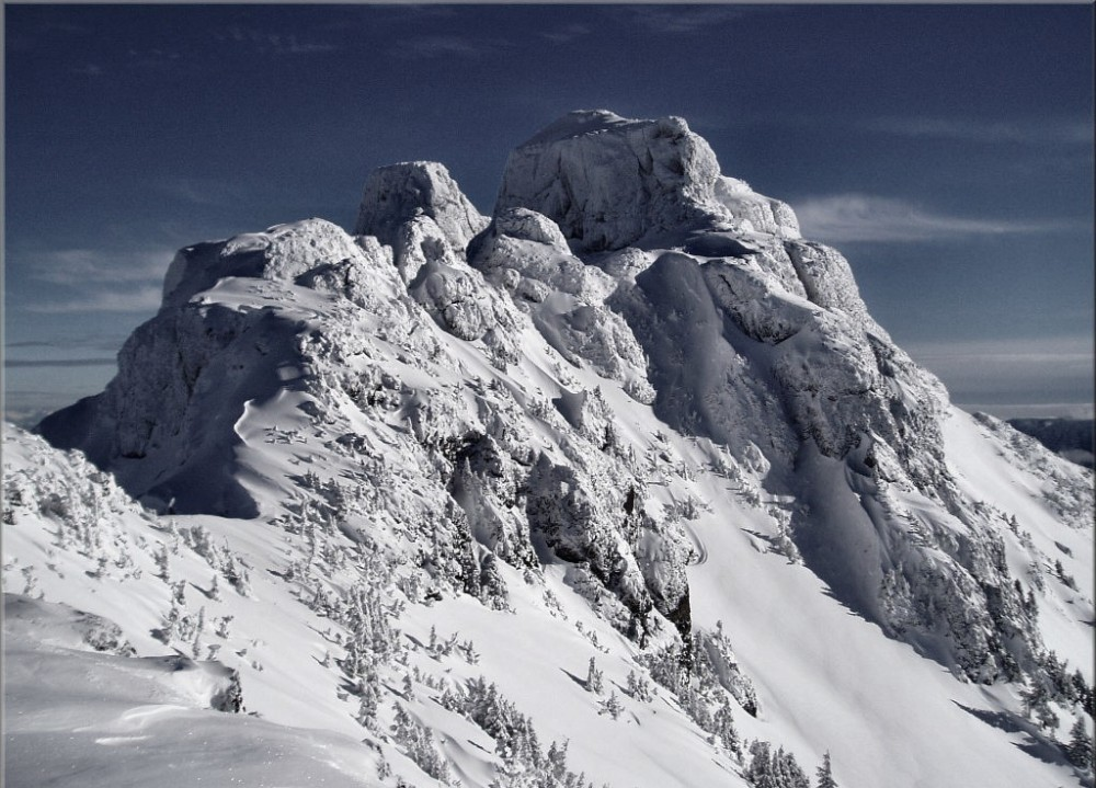 The majestic Mount Cain.