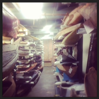 Another type of museum store room, for housing surf boards.