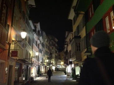Zurich by night.