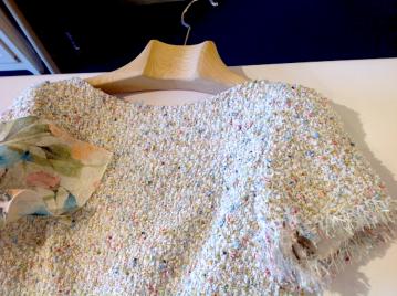 Parisian handwoven fabric.