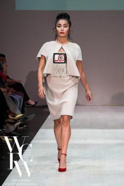 Handwoven Naaxiin Pendant, Kuugan Jaad III, 2015. Vintage Ports 1961 suit, Fornarina velvet high heels