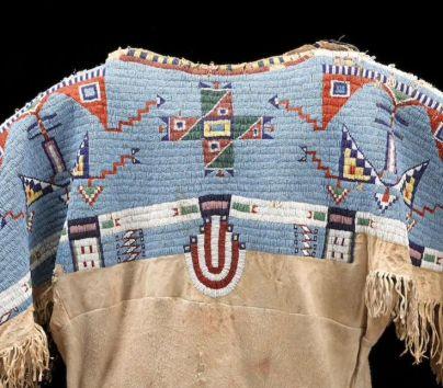 Sioux beaded dress, Bonhams auction