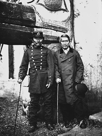 Haida Chiefs In Skidegate, Queen Charlotte Islands, circa 1881