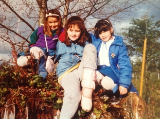 Myself, Shonna, and Kimberley, circa 1986